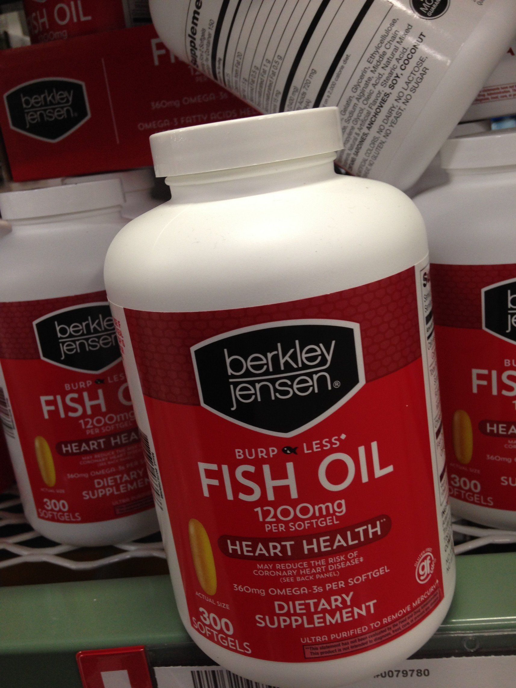 Berkley Jensen fish oil 1200 mg odorless 300 ct (pack of 6)