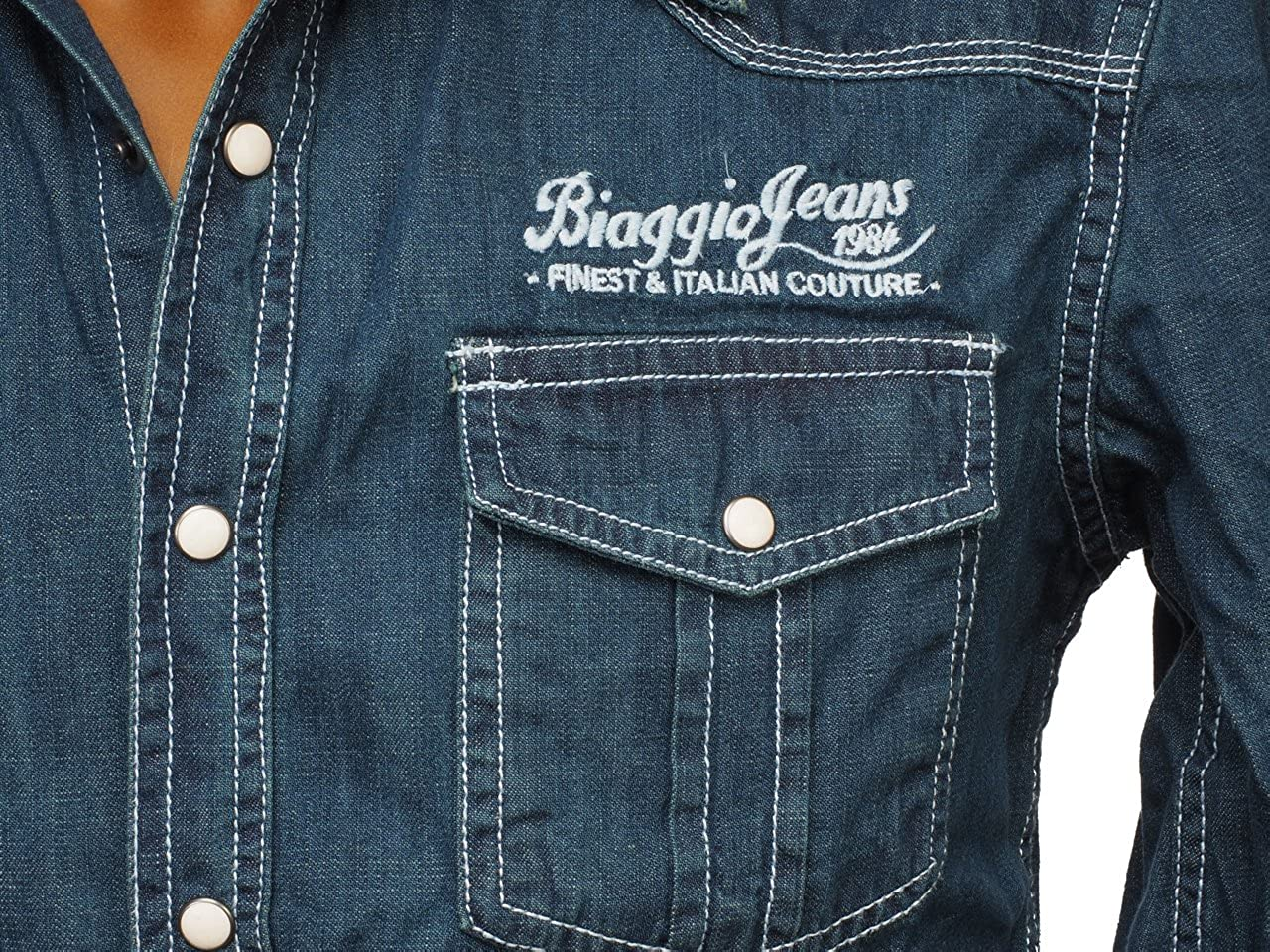 ML BIAGGIO Chemise Caforal Shirt Manches Demin Bleu Longues TrwrEq8Wv