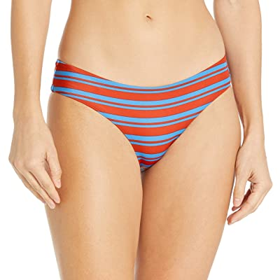 RVCA Women's Kind Line Striped Medium Bikini Bottoms: Clothing
