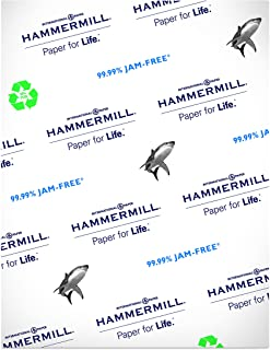product image for Hammermill Printer Paper, Great White 50% Recycled Paper, 8.5 x 11 - 1 Ream (500 Sheets) - 92 Bright, Made in the USA