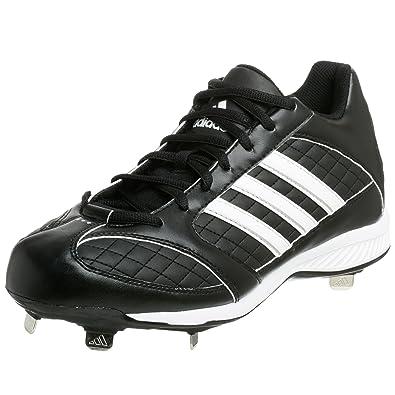 adidas Men's Spinner 8 Mid Baseball Cleat,Black/White/Silver,11.5 M