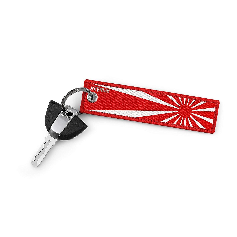 Premium Quality Key Tag for JDM Cars Rising Sun - Red KEYTAILS Keychains