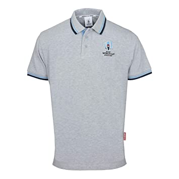 d6f4af58572 Rugby World Cup 2019 Pique Polo Shirt (XL, Grey): Amazon.co.uk ...