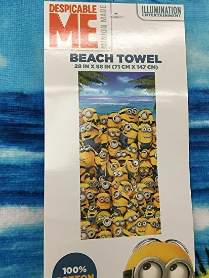 """Despicable Me Kids Minions All-Over Beach Towel 58"""" x 28"""""""
