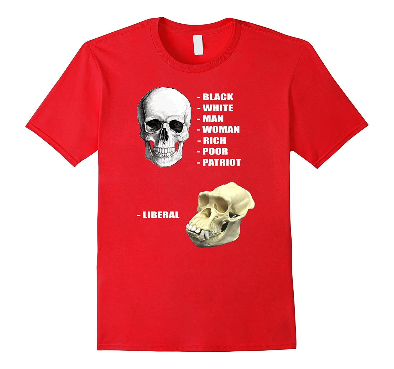 Funny Cool Skulls Of Modern America Patriot Liberal T Shirts Cd