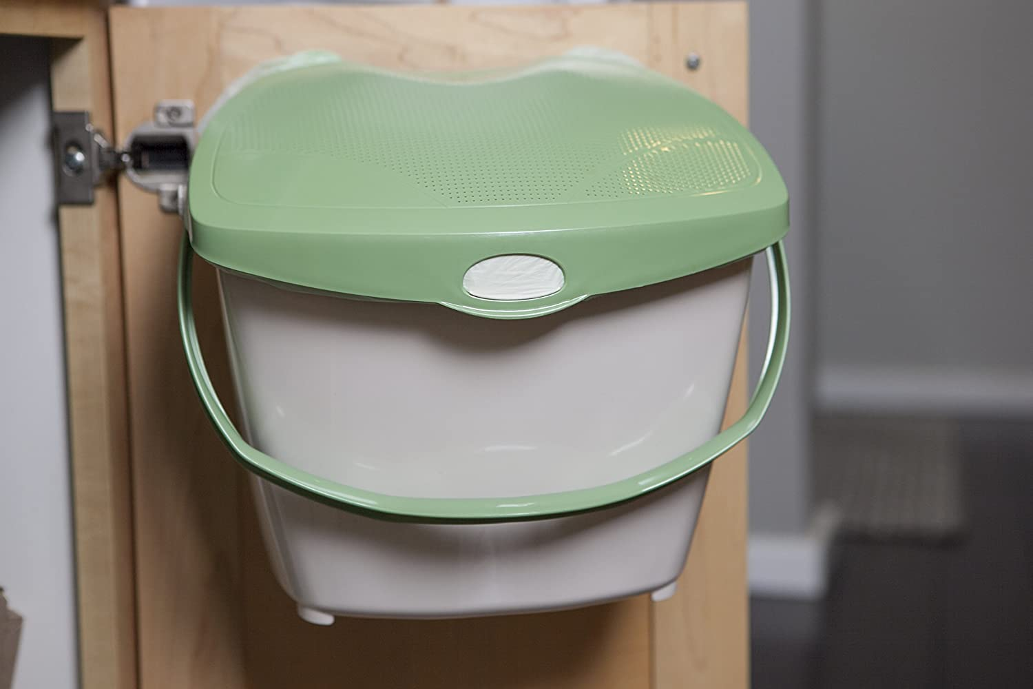 Mountable Kitchen Compost Bin by Zero Waste Together - 2 Gal, Under Sink, Countertop, Aerated/Odor Free, Dishwasher Safe, Bags Ok, Made in Canada