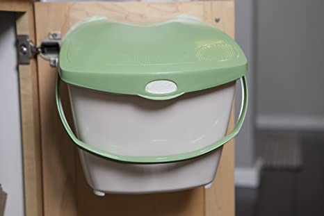 Zero Waste Mountable Kitchen Compost Bin   2 Gallon, Odor Free, Countertop,  Under