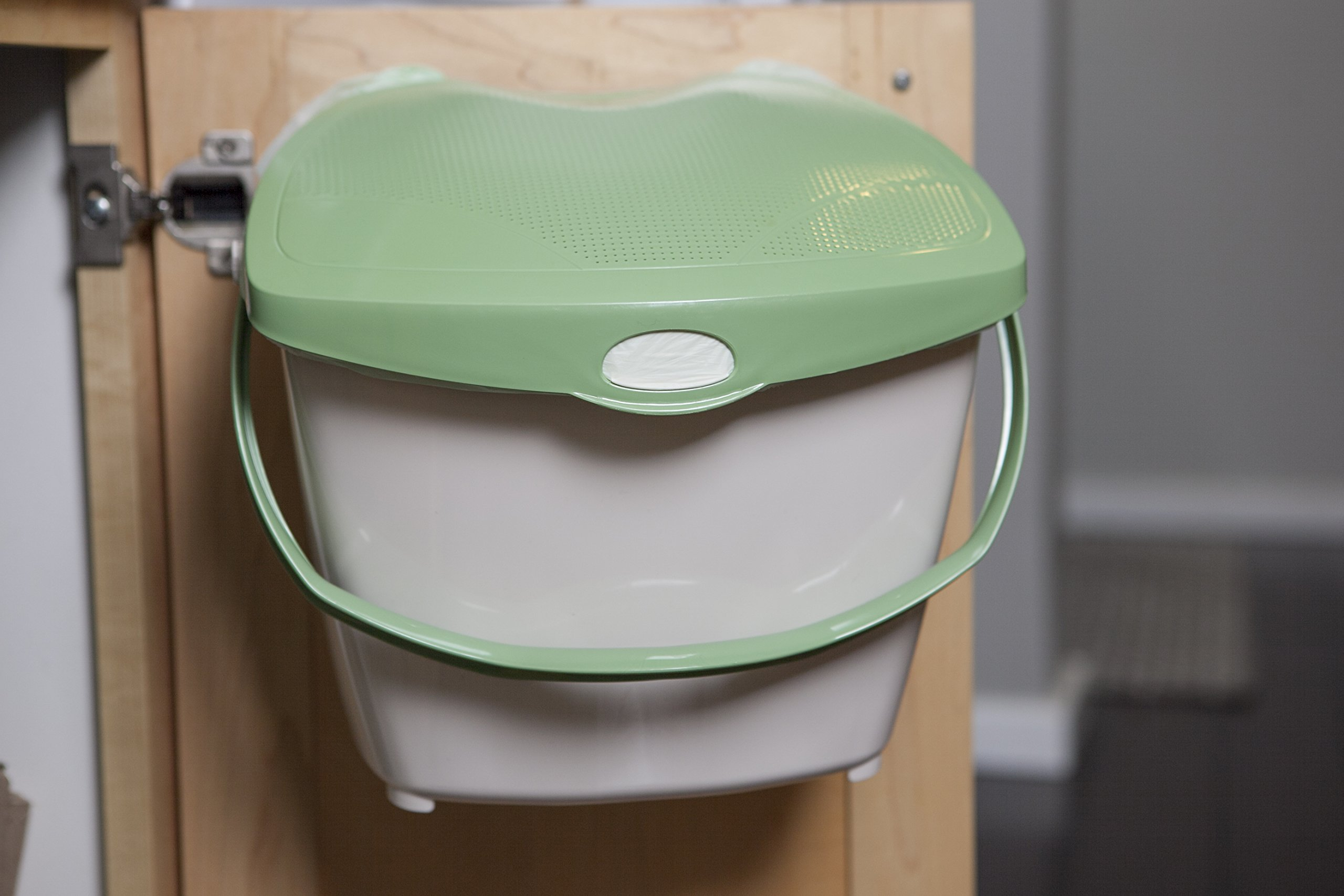 Mountable Kitchen Compost Bin by Zero Waste Together - 2 Gal, Under Sink, Countertop, Odor Free, Dishwasher Safe, Bags Ok, Made in Canada
