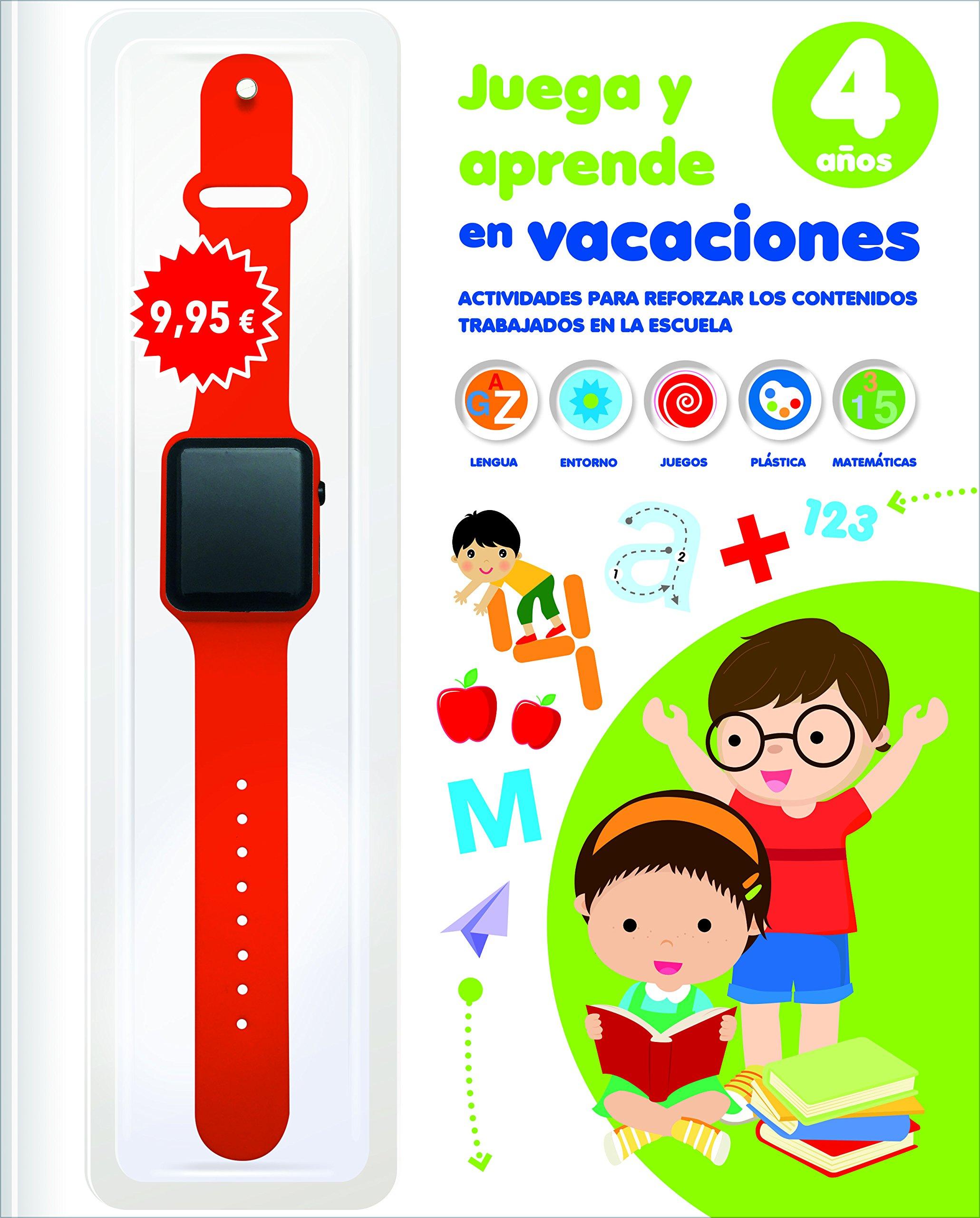 JUEGA Y APRENDE EN VACACIONES 4 AÃOS CON RELOJ (Spanish) Paperback