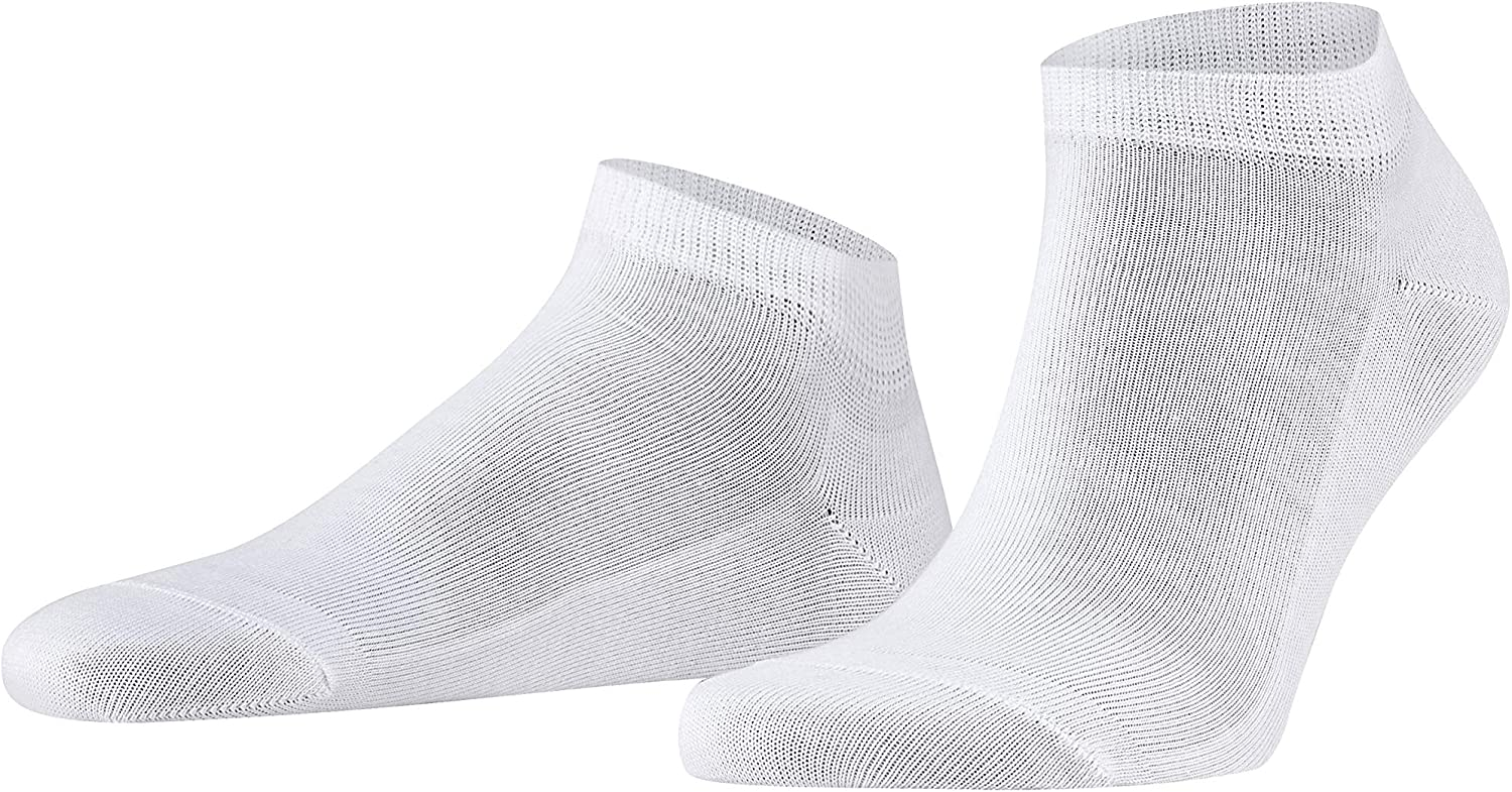 FALKE Mens Family Sneaker Casual Sock - 94% Cotton, In Black, Grey or White, US sizes 6.5 to 15, 1 Pair