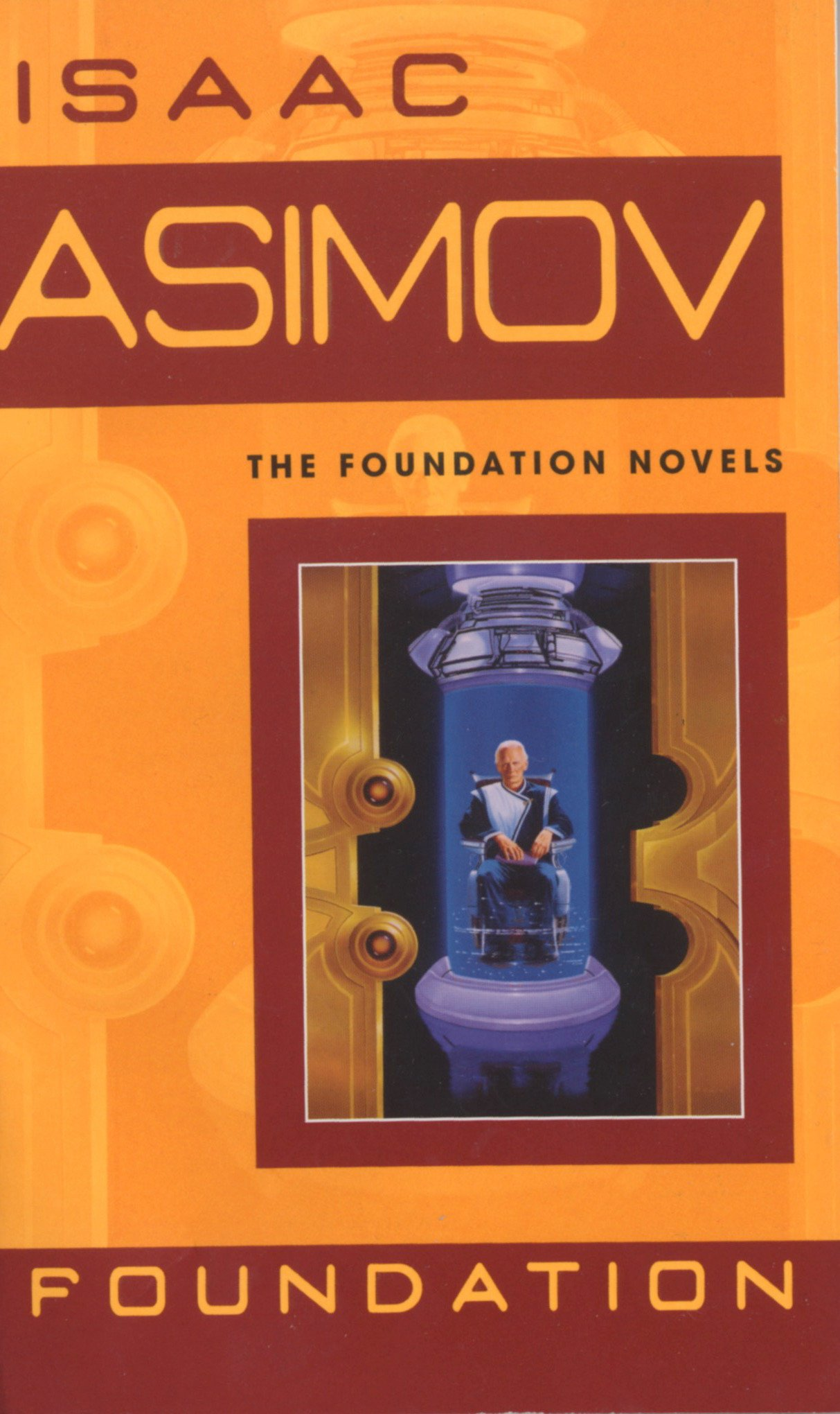 Image result for The Foundation trilogy by Isaac Asimov book cover