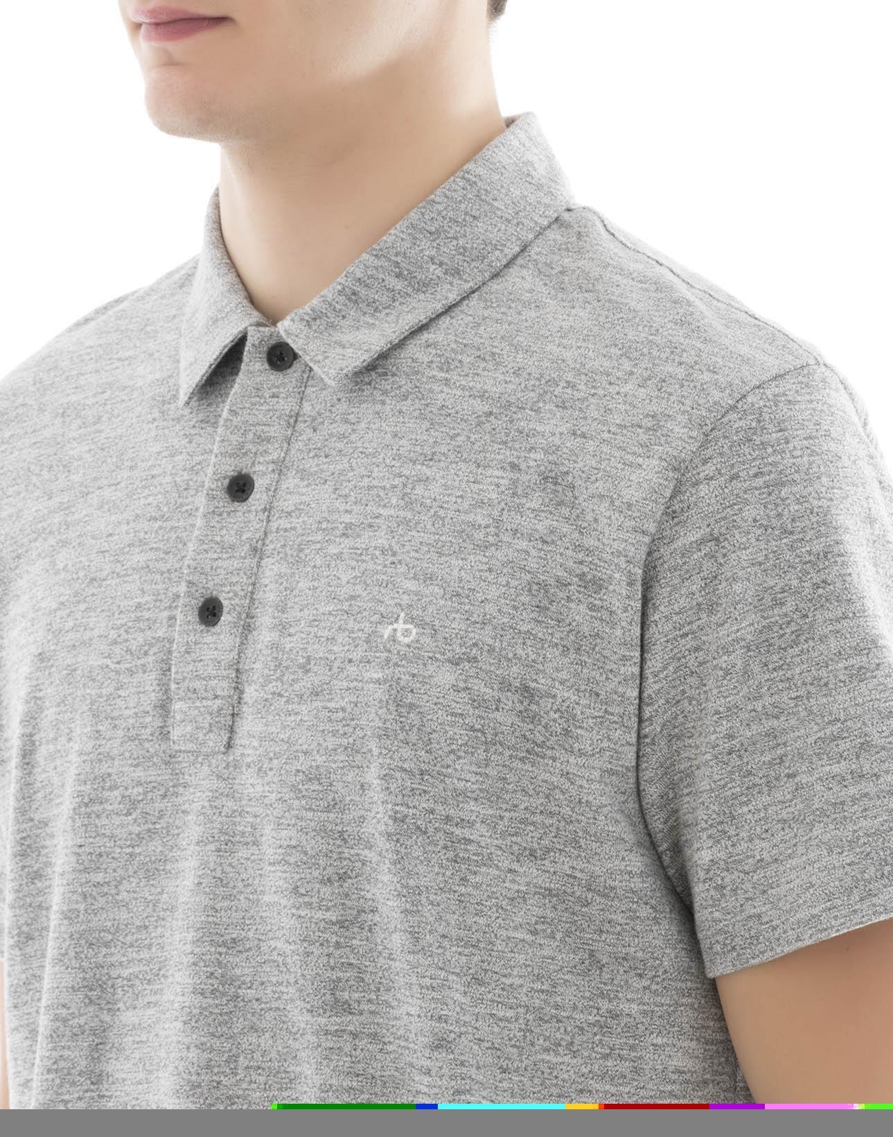 rag & bone Men's M000t076c030 Grey Cotton Polo Shirt by rag & bone (Image #4)