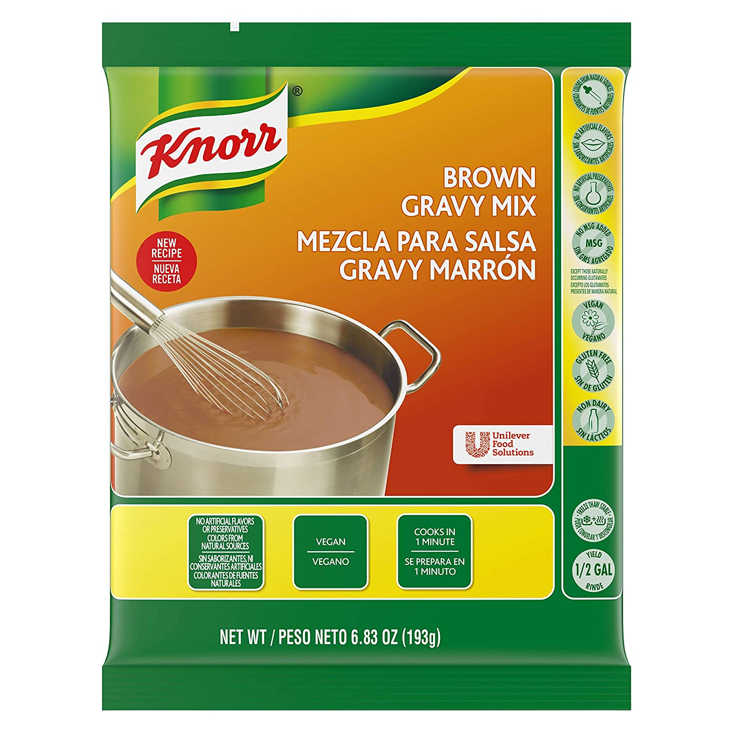 Amazon.com : Knorr Gravy Mix Brown 6.83 oz, Pack of 6 : Grocery & Gourmet Food