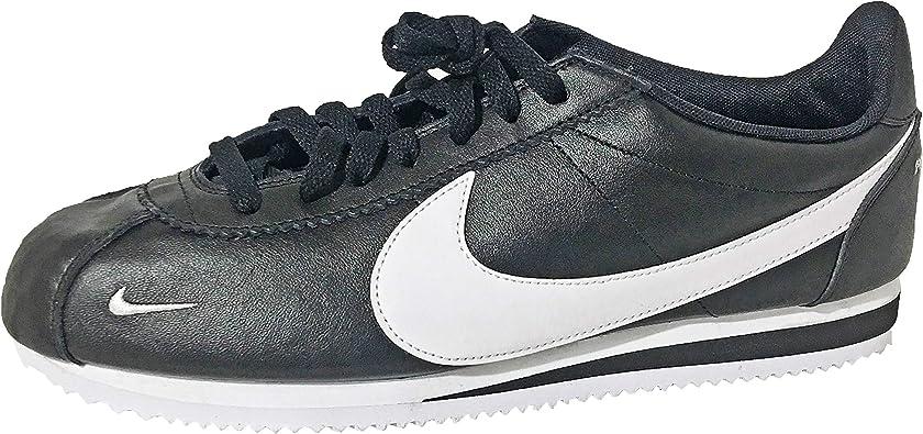 Nike Classic Cortez PREM, negro y blanco, 11.5 M US