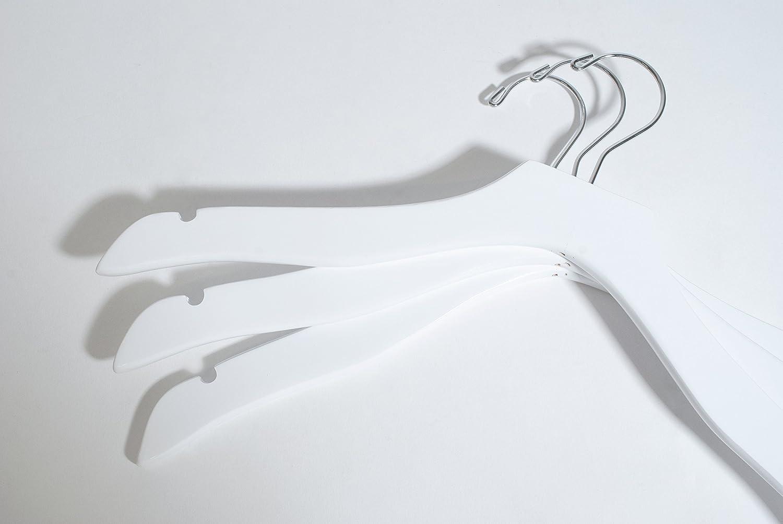 Topline Classic Wood Bridal Dress Hangers White Finish 10-Pack