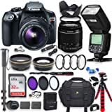 Canon EOS Rebel T6 DSLR Camera with 18-55mm is Lens Bundle + Speedlight TTL Flash + 32GB Memory + Filters + Monopod…