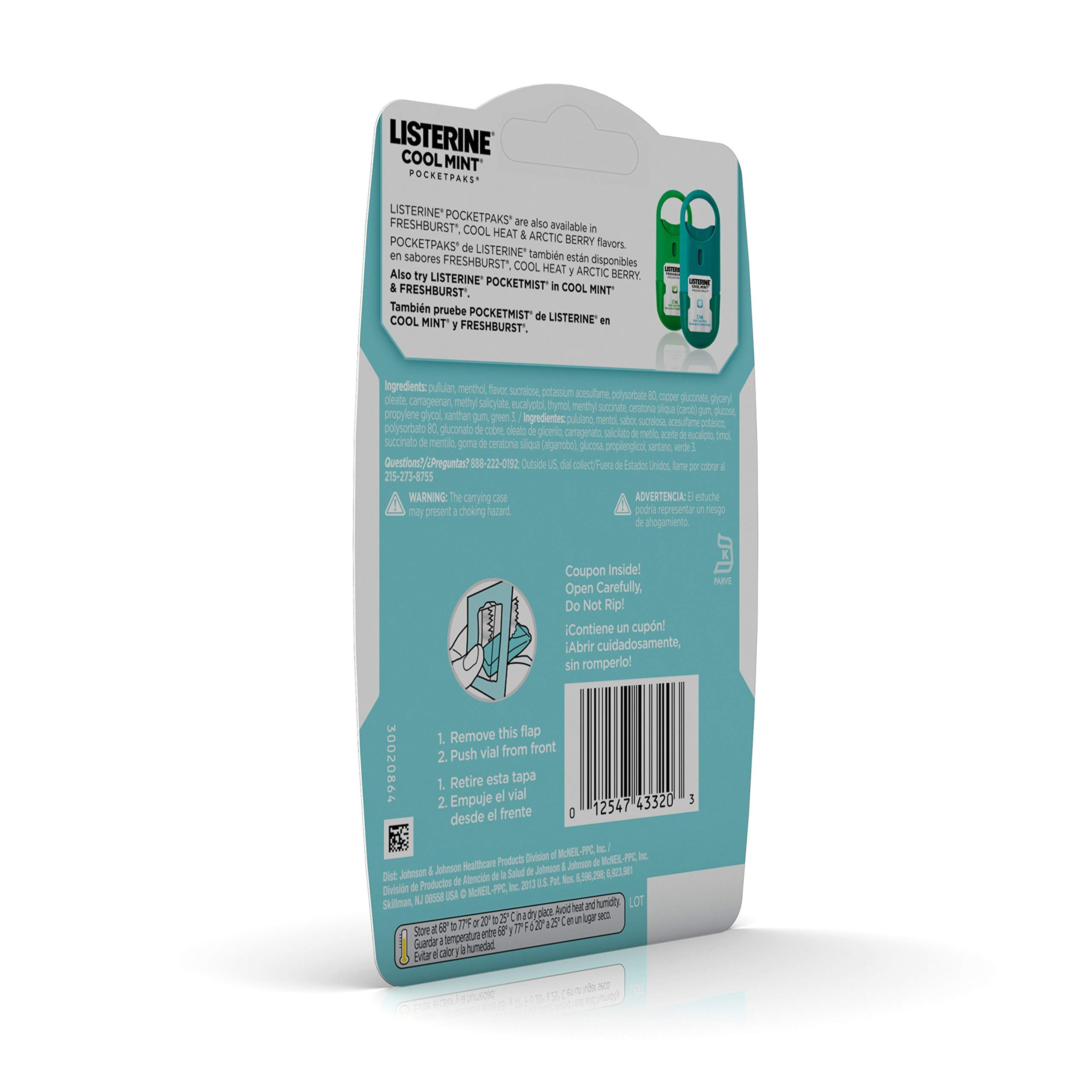 Listerine Cool Mint Pocketpaks Breath Strips Kills Bad Breath Germs, 24-Strip Pack, 3 Count (Pack Of 6) by Listerine (Image #7)