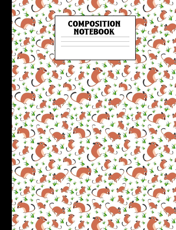 Composition Notebook  Degu Wide Ruled Book