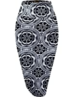 H&C Women's Elastic Waist Stretchy Office Pencil Skirt With Beautiful Prints