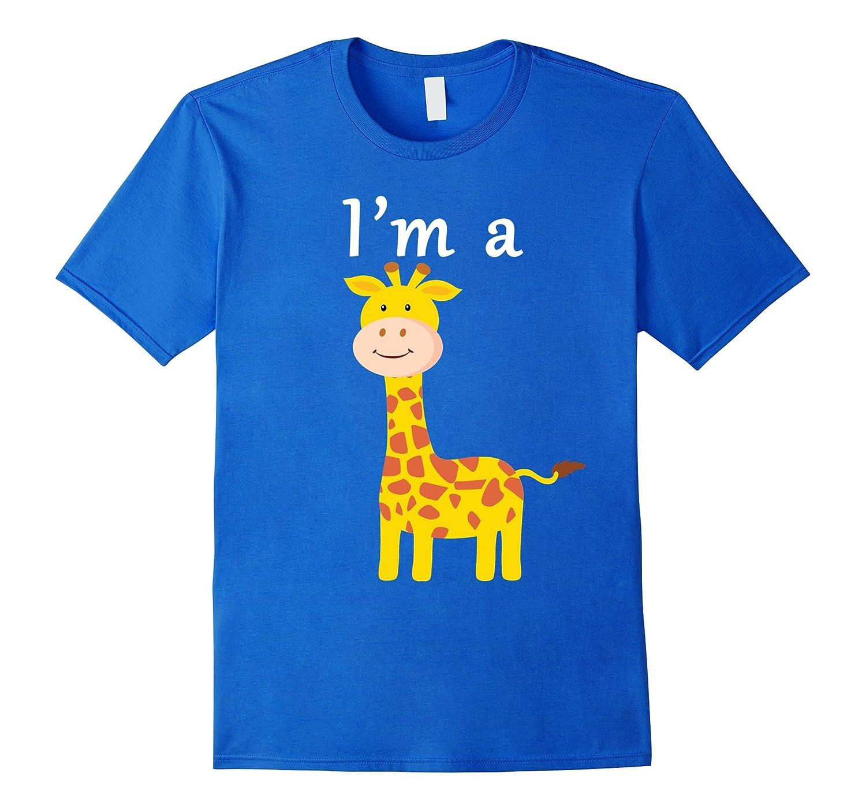 I'm a Giraffe Cartoon Animal Fan T-shirt-AZP