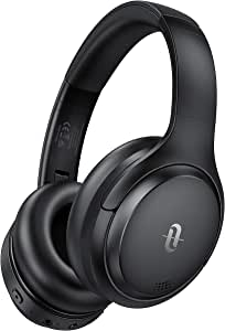 TaoTronics Hybrid Active Noise Cancelling Headphones Bluetooth Headphones Over Ear with 35H Playtime, Wireless Headphones Soft Protein Earpads Built-in Mic for Travel, Home Office Black