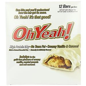 OhYeah! Bars Creamy Vanilla & Caramel