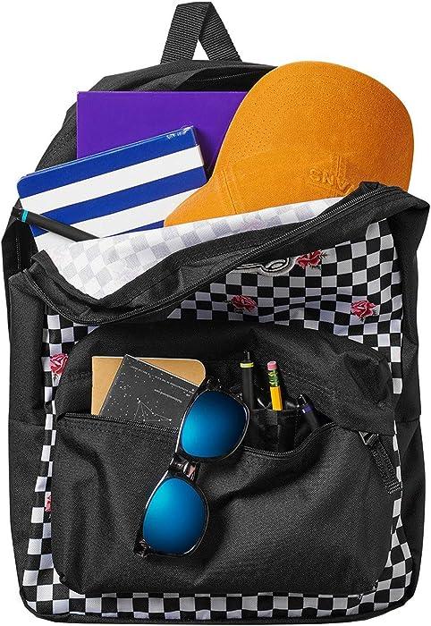633c16c9e017 VANS Realm Backpack Rose Checkerboard Schoolbag VN0A3UI6YFK Vans bags