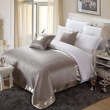 OSVINO Bettläufer Jacquard Kariert Retro Exquisite Schnell-Trocken Anti-  Bakterie Bett-Deko Betttuch für Schlafzimmer Hotelzimmer, Gold 260x 155cm  für ...