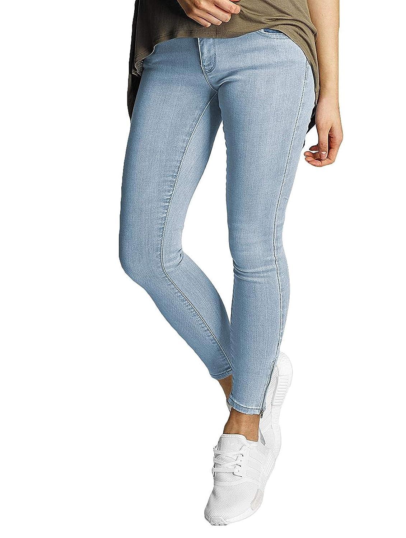 TALLA 31W / 30L. Vero Moda Vmfive LW SS Ankle J Lt Bl Am060 Noos, Jeans Mujer