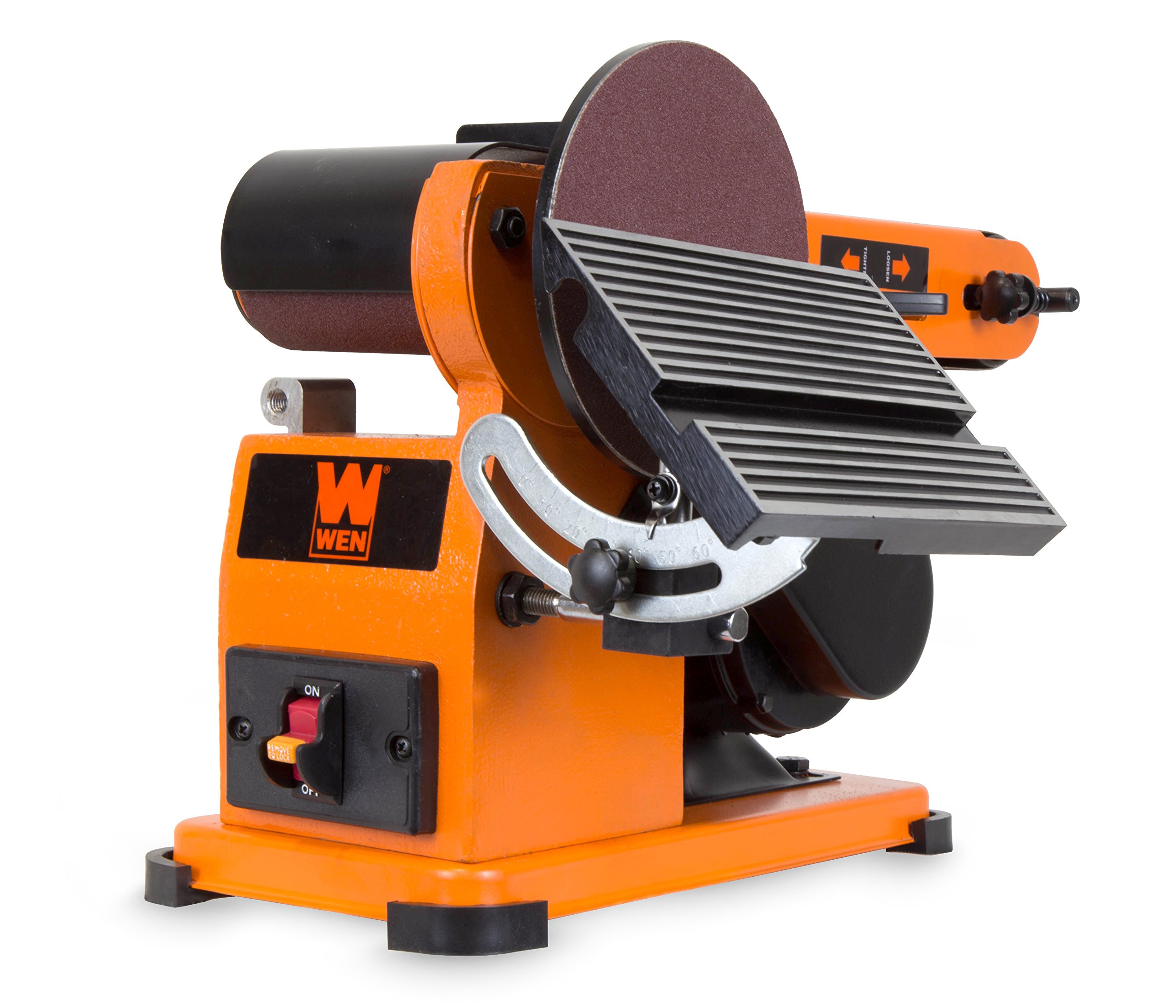 WEN 6500 4 x 36-Inch Belt and 6-Inch Disc Sander with Steel Base by WEN (Image #1)