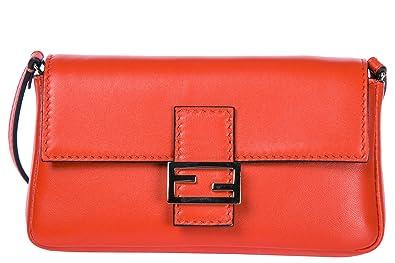 ecd67bd427df Image Unavailable. Image not available for. Colour  Fendi women s leather  shoulder bag original micro baguette red