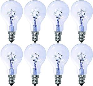 GE Reveal 76612 40-Watt, 285-Lumen A15 Light Bulb with Candelabra Base, 8-Pack