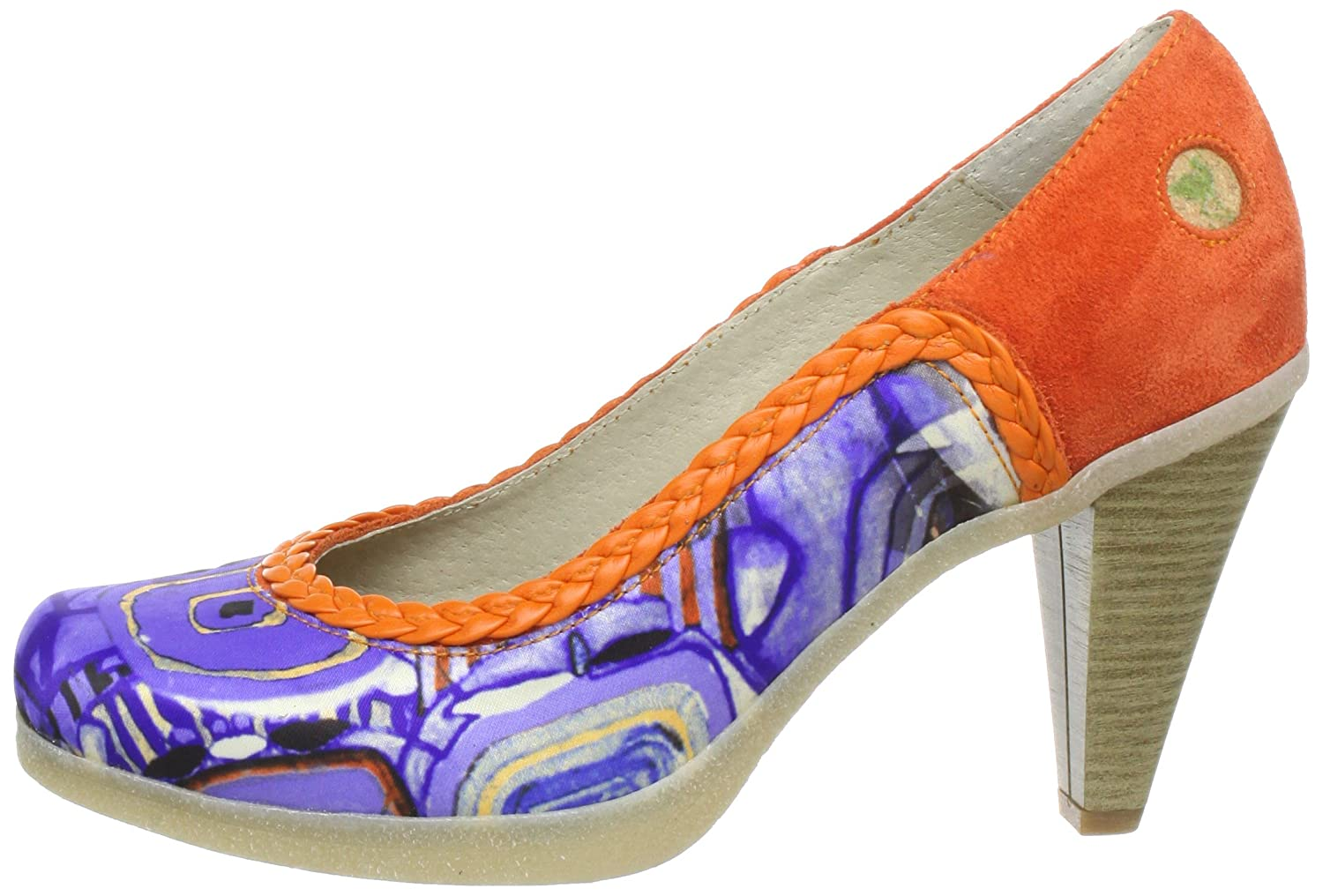 Stork Steps Penny A6, Damen Pumps, Mehrfarbig (Orange), EU 39