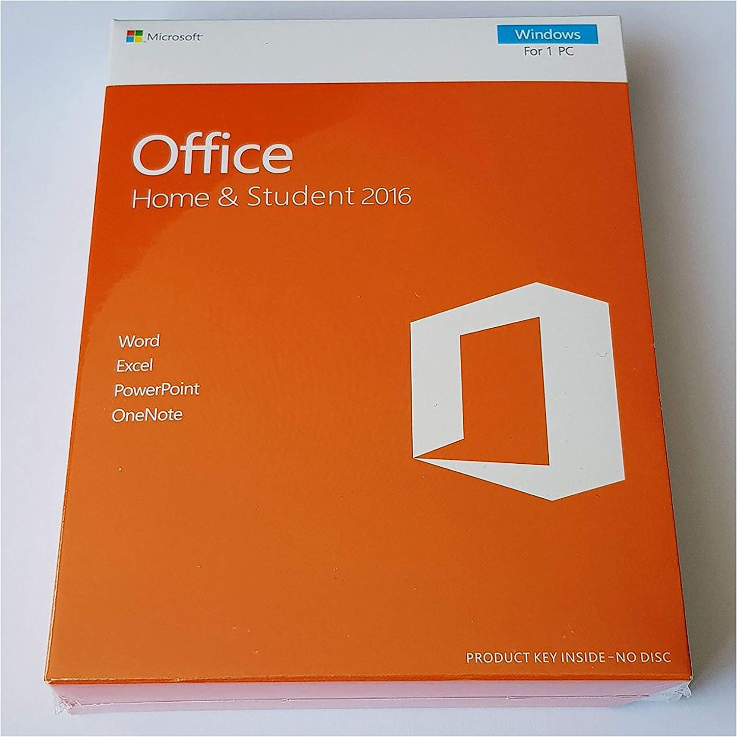 Office Home and Student 2016 License Key Card in Box, 1PC, Multilingual