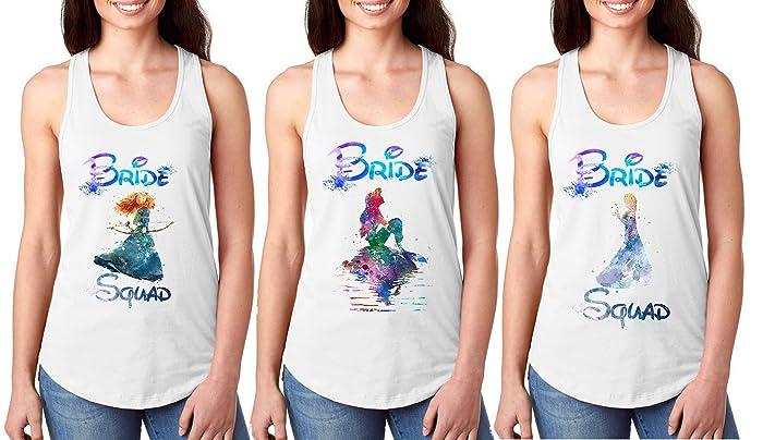 4bb657c5d4ed Amazon.com: Bride squad Disney, Disney Bachelorette, Bride Squad Disney,  Custom Disney Shirts: Handmade