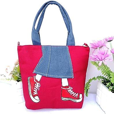 9f7ec42cdb Amazon.com  High Heels Design Bag Womens Bags Handbags Tote Femme Shoulder Messenger  Bag Mujer baobao Canvas Totes Handbag for Women Color 1 Red  Shoes