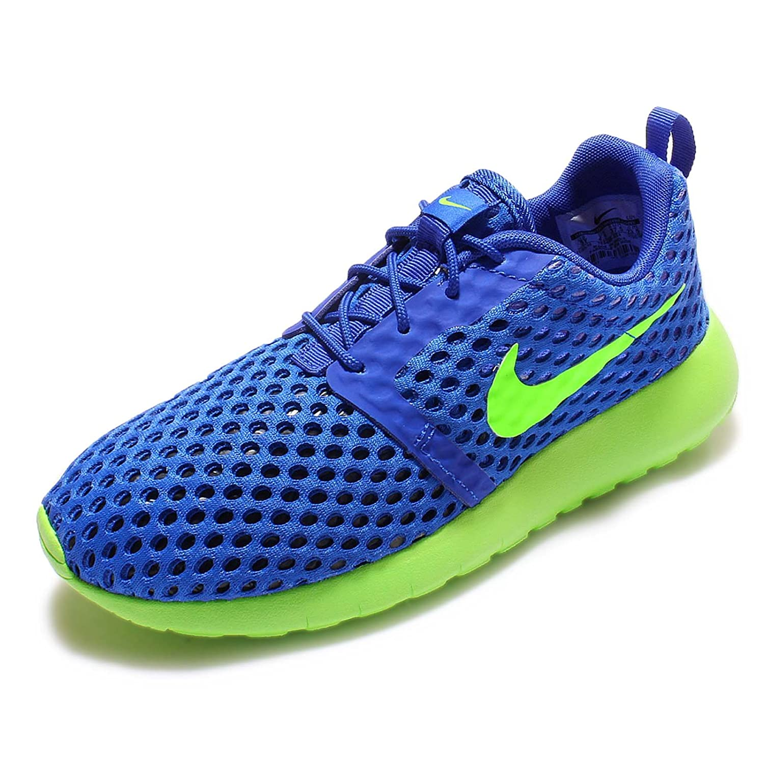 Youth Size 6 Nike Kids Roshe One Flight Weight GS RACER BLUE//ELECTRIC GREEN