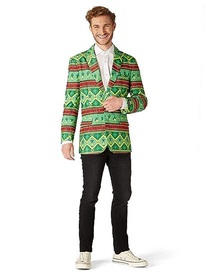 Suitmeister Chaqueta de Navidad para Hombre - La Chaqueta ...