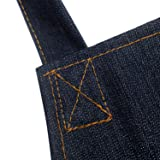 Heavy Duty Denim Jean Apron Tool Apron with Pockets Waterproof Workshop Apron with 3 Pockets Utility Apron for Men & Women