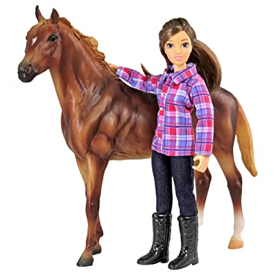 Breyer Freedom Series (Classics) Western Horse & Rider Doll Set | (1:12 Scale) | Model #61116: Toys & Games