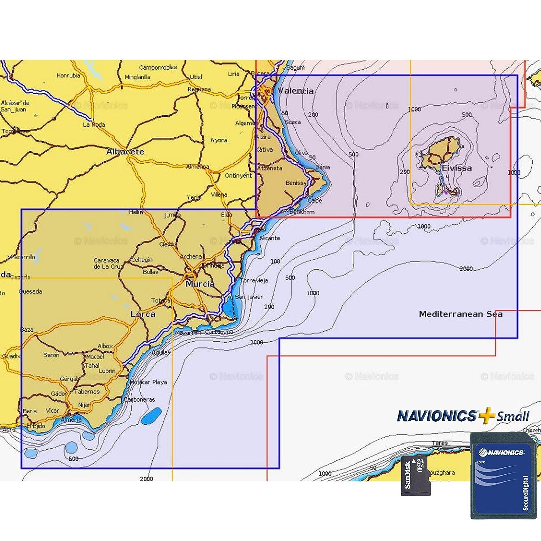 Navionics Plus Small MicroSD/SD Valencia - Almerimar: Amazon ...