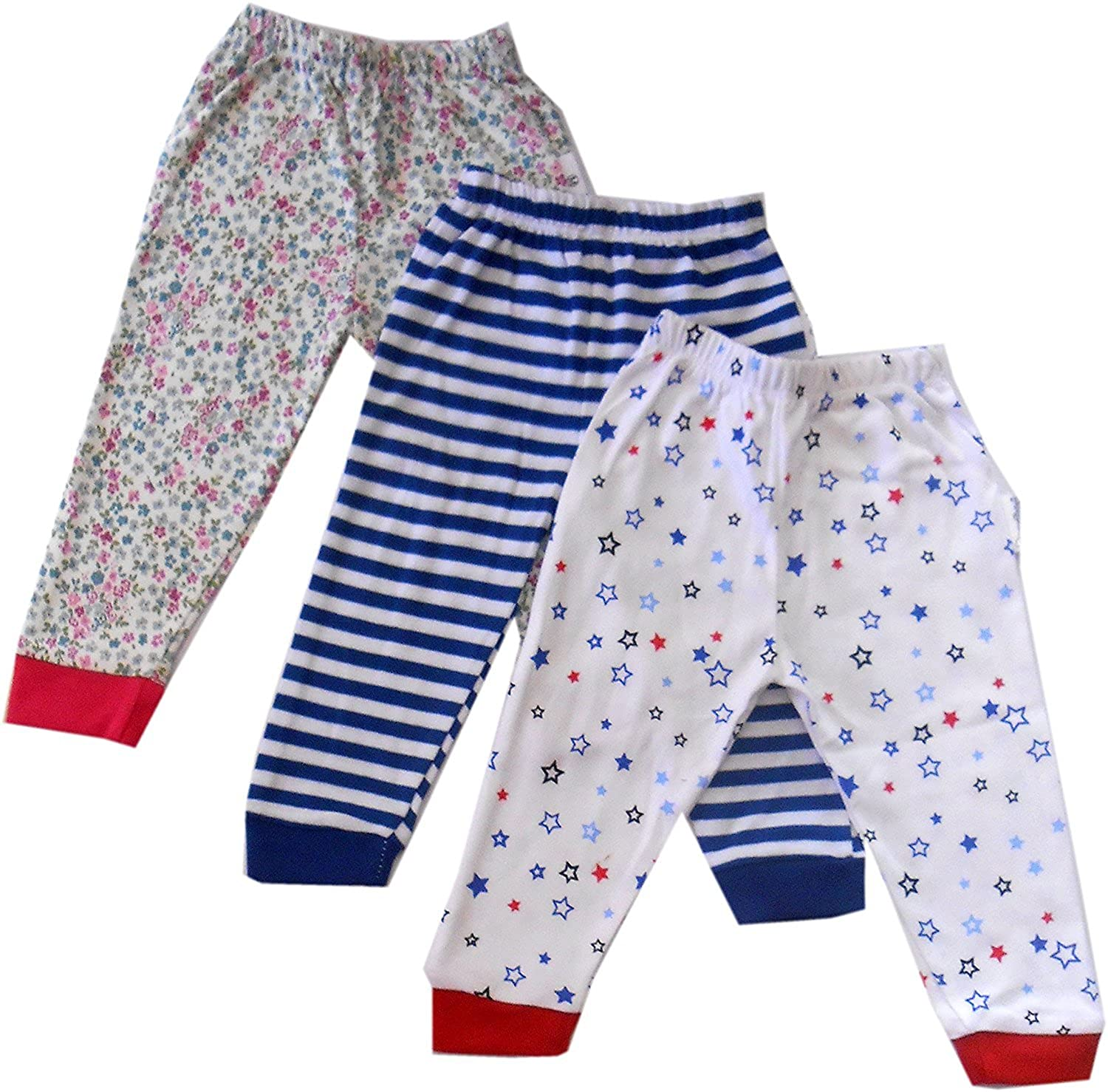 dcd7fd586 Vadmans Baby Pajama Pant With Rib MIXED PRINTS - SET OF 3  Amazon.in ...