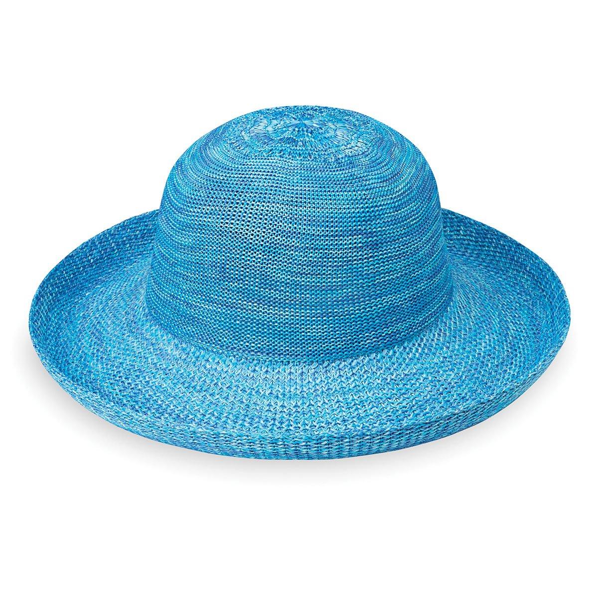 Wallaroo Hat Company Women's Victoria Sun Hat - Lightweight and Packable Hat, Mixed Aqua