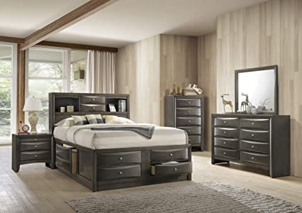 cc5d09587cf5 Image Unavailable. Image not available for. Color: ACME Furniture Ireland  Storage Bed, Eastern King ...
