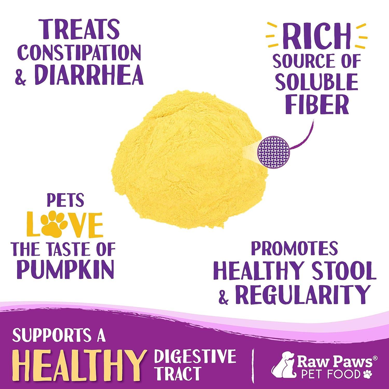 Raw Paws Suplemento digestivo en polvo de calabaza para perros y gatos: Amazon.es: Productos para mascotas