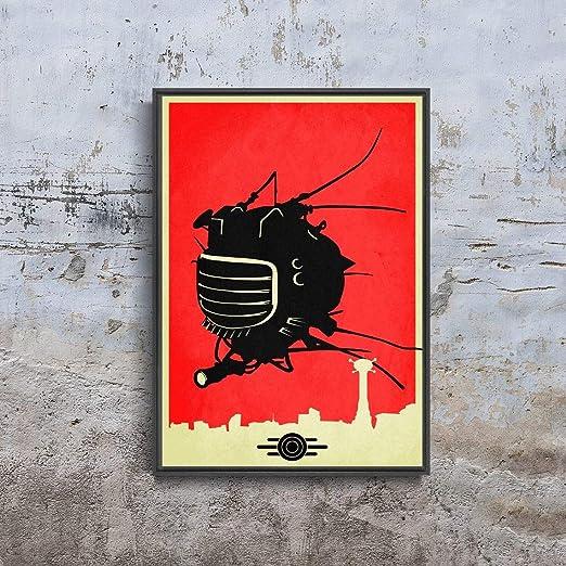 ED-E Eyebot Robot New Vegas Fallout Apocalypse Futurism Game Gaming Shelter Alternative Poster (XL - 24 x 36 icnh (61 x 91 cm))