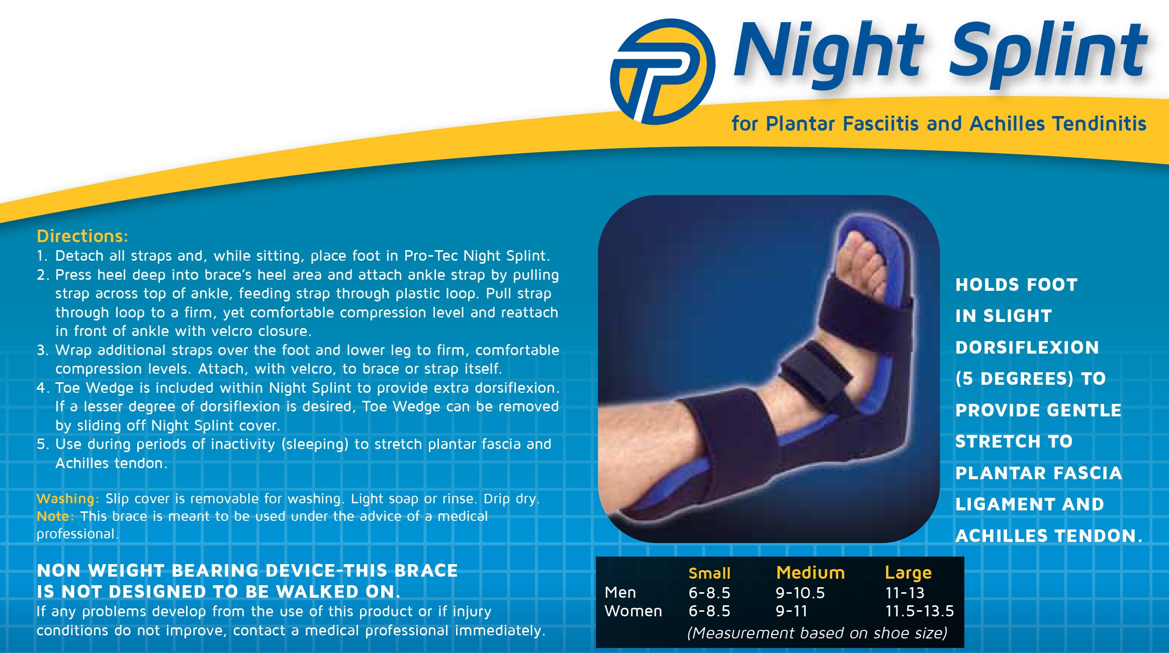 Pro-Tec Athletics Night Splint (Medium) by Pro-Tec