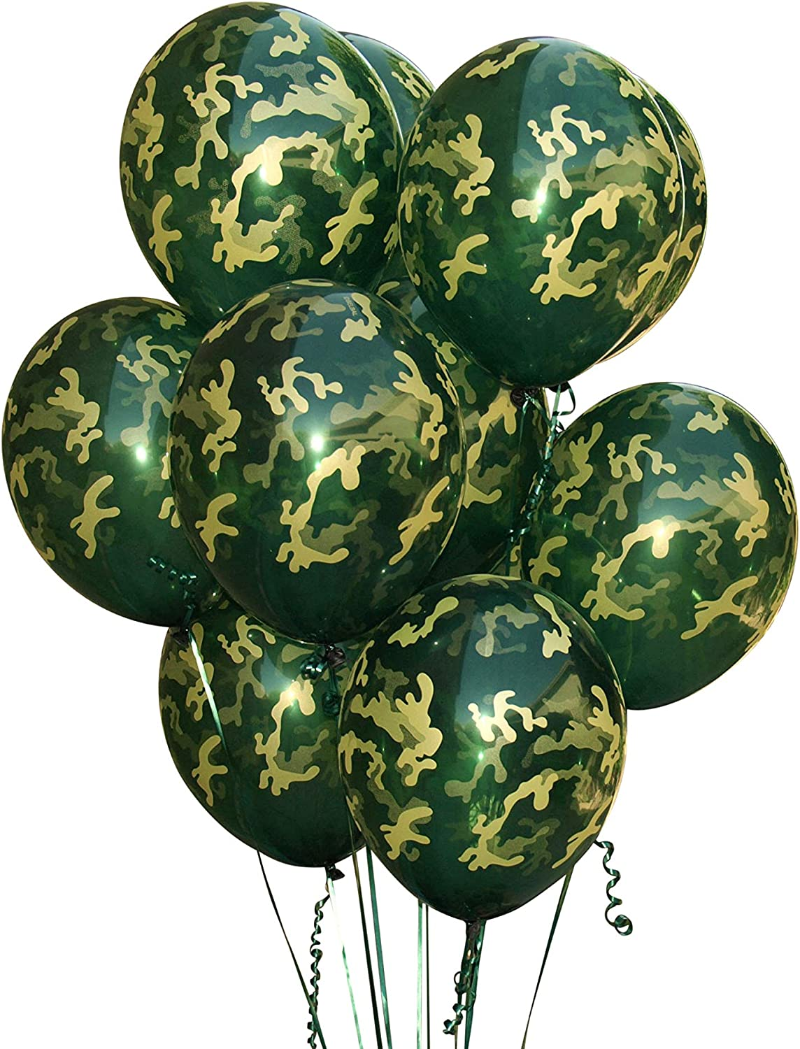"""Hunting Camo Birthday Party Supplies 9/"""" Large Dinner Plates"""