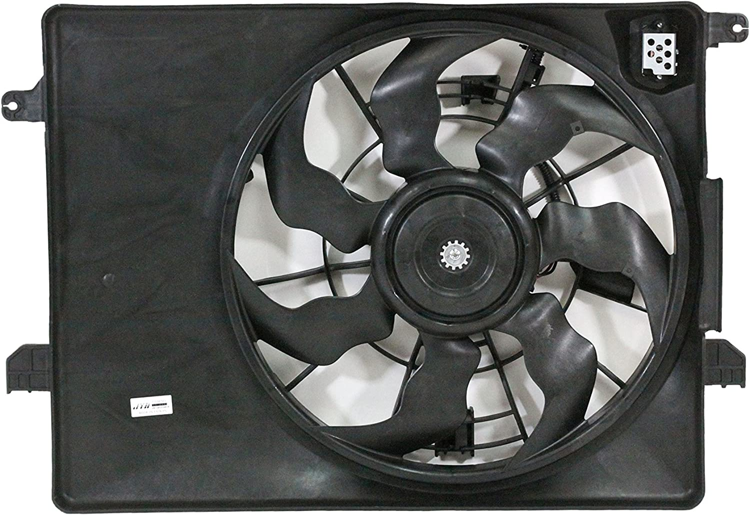Engine Cooling Fan Assembly - Cooling Direct Fit/For 253802S500 11-13 Kia Sportage 2.4L 10-13 Hyundai Tucson