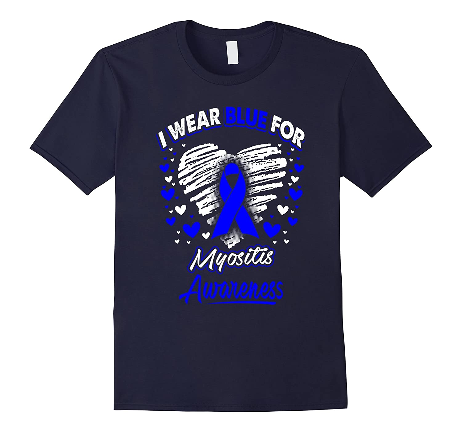 I Wear Blue For Myositis Awareness T Shirt-Vaci